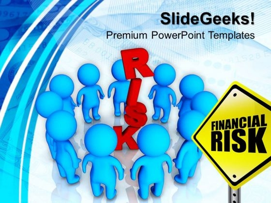 3d People Around Risk Business PowerPoint Templates And PowerPoint Themes 1012