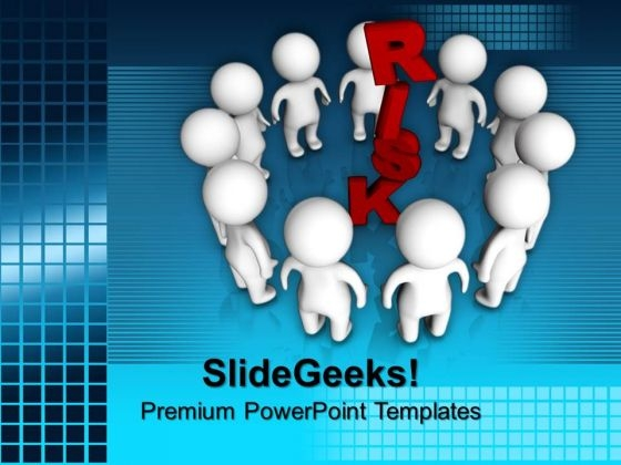3d People Around Risk Leadership PowerPoint Templates And PowerPoint Themes 1012