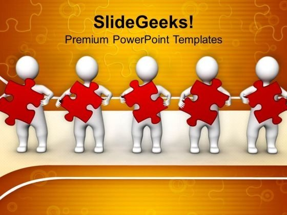 3d People With Puzzle Leadership PowerPoint Templates And PowerPoint Themes 1012
