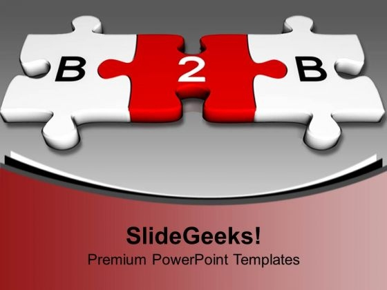 3d Puzzle Pieces Forming B2b Business Concept PowerPoint Templates Ppt Backgrounds For Slides 1212
