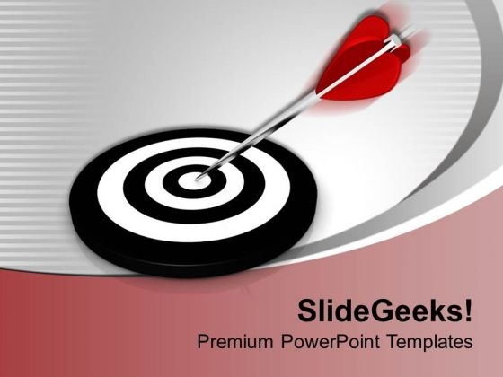 3d Red Arrow Business Theme PowerPoint Templates Ppt Backgrounds For Slides 0413