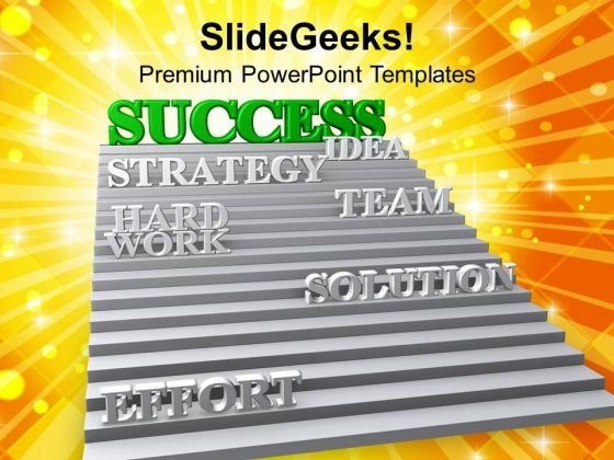 3d Stairway To Success Teamwork PowerPoint Templates Ppt Backgrounds For Slides 0213