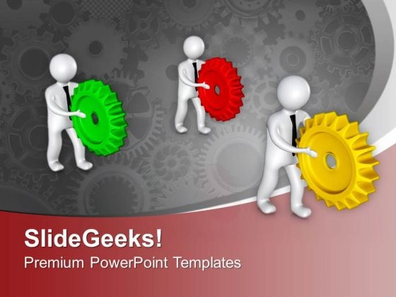 3d Team In Action PowerPoint Templates Ppt Backgrounds For Slides 0713