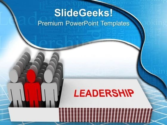3d Team Standing In Leadership Match Box PowerPoint Templates Ppt Backgrounds For Slides 0713