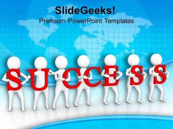 3d Team Success Illustration PowerPoint Templates Ppt Backgrounds For Slides 0813