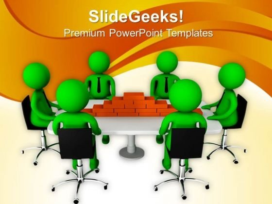 3d Team With Business Design Model PowerPoint Templates Ppt Backgrounds For Slides 0713