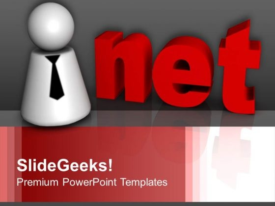 3d Text Net Internet PowerPoint Templates And PowerPoint Themes 1012