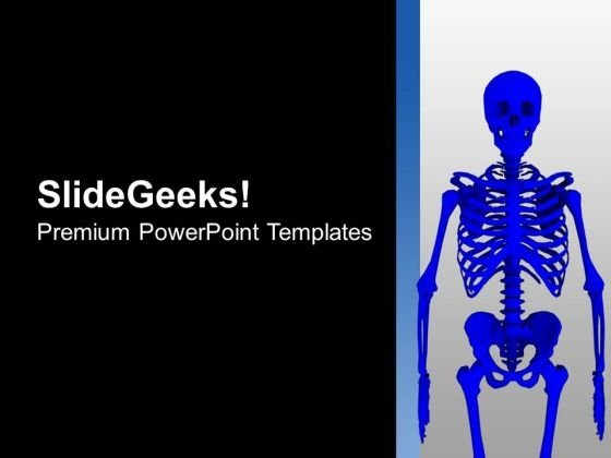3d view of human skeleton powerpoint templates ppt backgrounds for, Skeleton