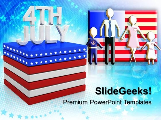 4th July Usa America PowerPoint Templates And PowerPoint Themes 0612