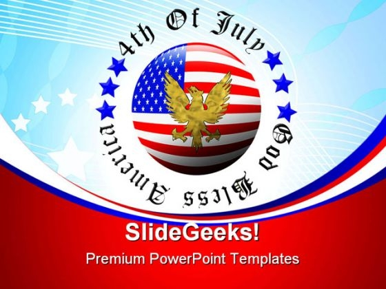 4th Of July Americana PowerPoint Templates And PowerPoint Backgrounds 0611