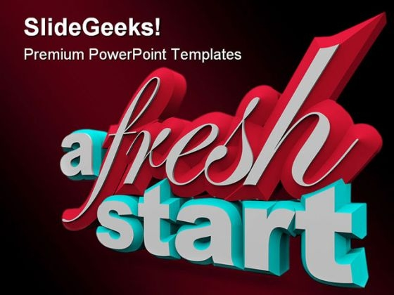 A Fresh Start PowerPoint Templates And PowerPoint Backgrounds 0111