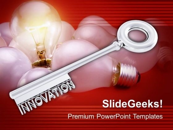 A Golden Key Innovation Concept Symbol PowerPoint Templates And PowerPoint Themes 1012