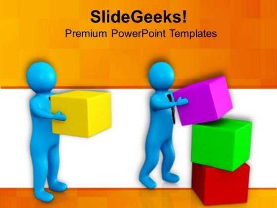 A Man Helping His Co Worker PowerPoint Templates Ppt Backgrounds For Slides 0713