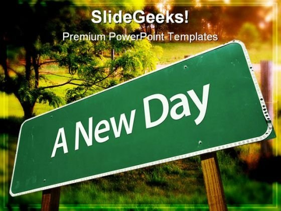 A New Day Nature PowerPoint Templates And PowerPoint Backgrounds 0711