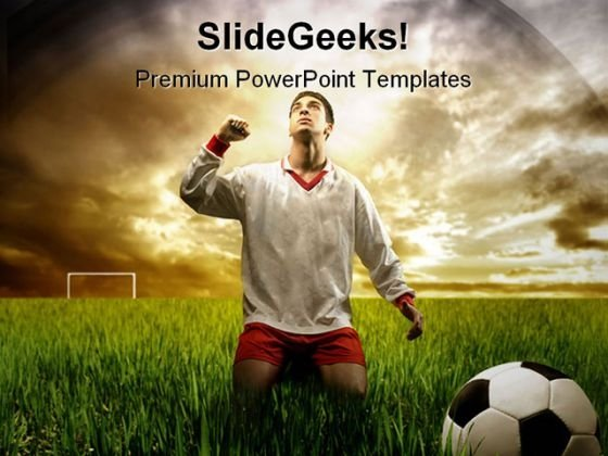 A Soccer Player Sports PowerPoint Themes And PowerPoint Slides 0211