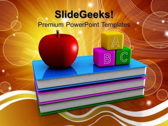 abc blocks and books education powerpoint templates and powerpoint