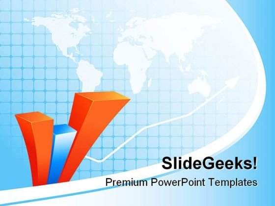 Abstract Bar Graph Business PowerPoint Themes And PowerPoint Slides 0811