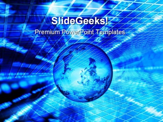 Abstract Binary World Globe PowerPoint Themes And PowerPoint Slides 0411