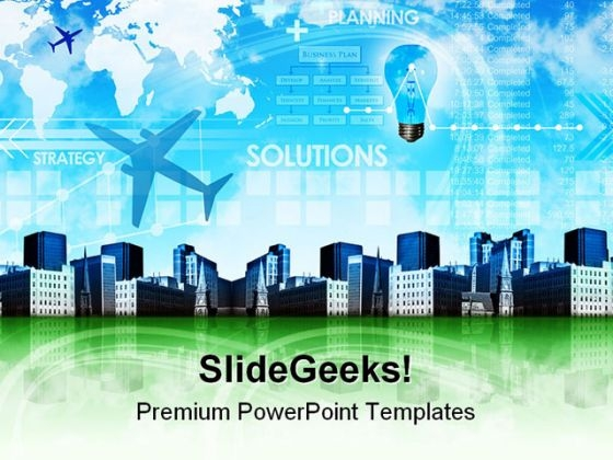 Abstract Business Strategy Background PowerPoint Themes And PowerPoint Slides 0511
