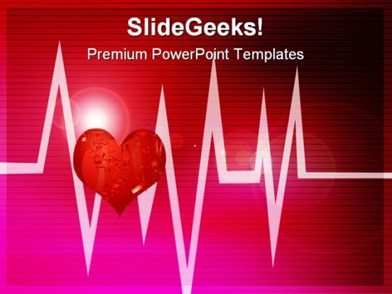 Abstract Cardiogram Medical PowerPoint Themes And PowerPoint Slides 0511