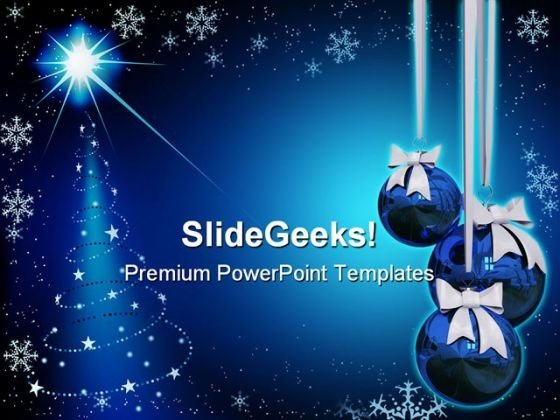 Abstract Christmas PowerPoint Template 0610