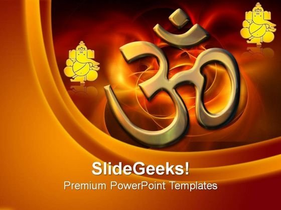 Abstract Colored Hindu Religion PowerPoint Templates And PowerPoint Themes 0812