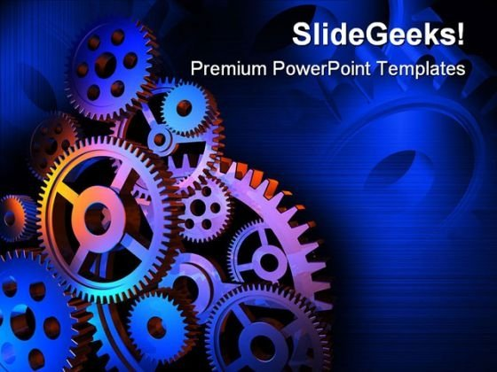 Abstract Colorful Gears Background PowerPoint Themes And PowerPoint Slides 0411