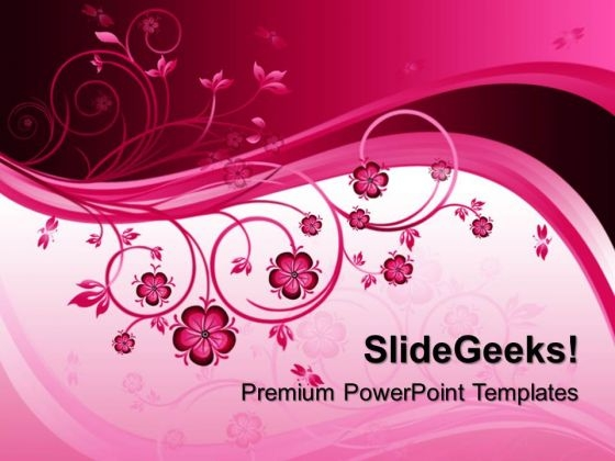 Abstract Floral Background PowerPoint Templates And PowerPoint Themes 0312