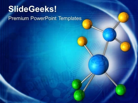 Abstract Molecular Structure PowerPoint Templates Ppt Backgrounds For Slides 0413