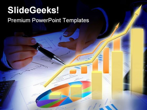 Abstract Pie Chart Business PowerPoint Themes And PowerPoint Slides 0211
