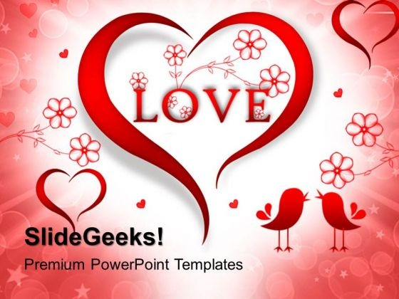 Abstract Red Heart Metaphor PowerPoint Templates And PowerPoint Themes 0412