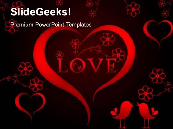 Abstract Red Heart With Love Metaphor PowerPoint Templates And PowerPoint Themes 0312