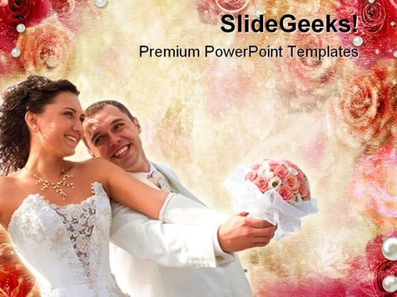 Abstract Roses Wedding PowerPoint Themes And PowerPoint Slides 0411