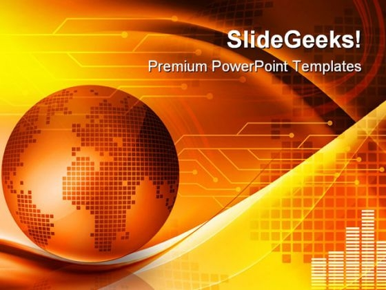 Abstract With Globe Earth PowerPoint Themes And PowerPoint Slides 0511