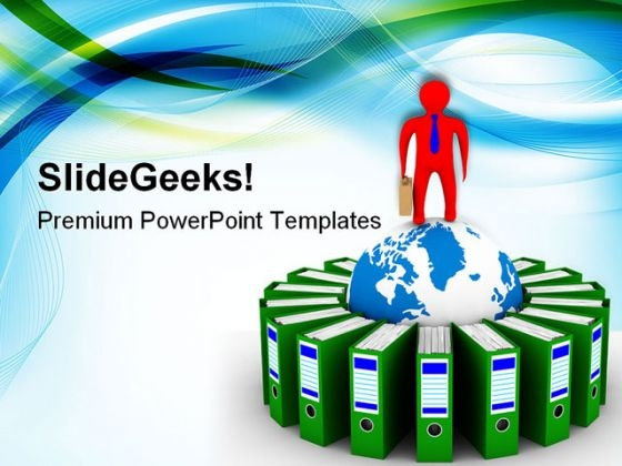 Accounting Folders Business PowerPoint Templates And PowerPoint Backgrounds 0411