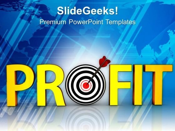 Acheivement Of Target Business Profit PowerPoint Templates Ppt Backgrounds For Slides 0513