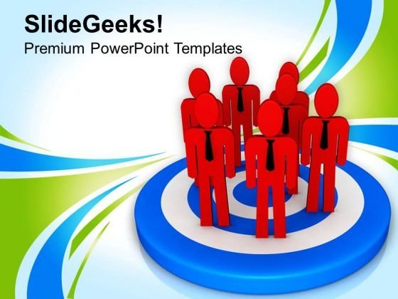 Achieve Goal With Team PowerPoint Templates Ppt Backgrounds For Slides 0713