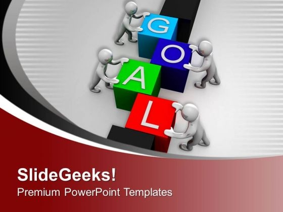 Achieve Goal With Teamwork PowerPoint Templates Ppt Backgrounds For Slides 0713