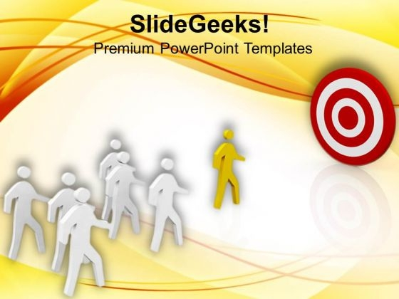 Achieve The Target Leadership Concept PowerPoint Templates Ppt Backgrounds For Slides 0713