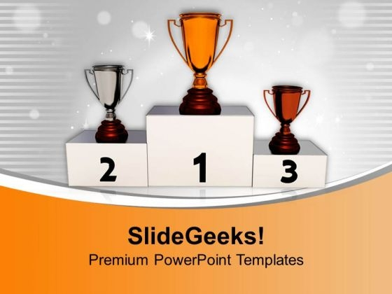 Achieve Trophy For Excellence PowerPoint Templates Ppt Backgrounds For Slides 0513