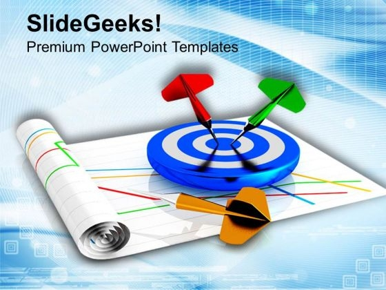 Achievement Of Target Sales Chart PowerPoint Templates Ppt Backgrounds For Slides 0813