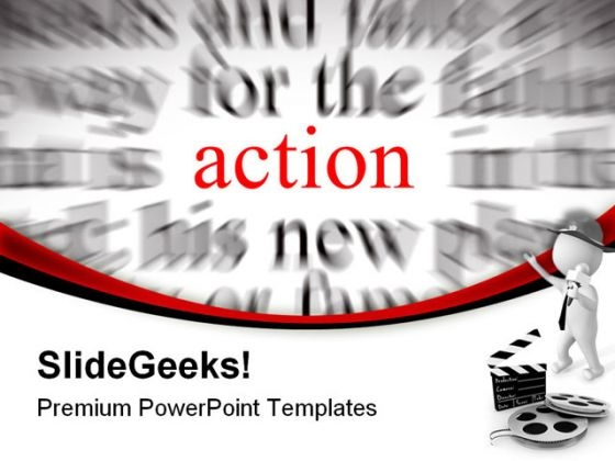 Action Business PowerPoint Templates And PowerPoint Backgrounds 0611