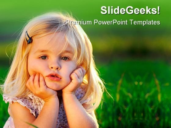 Adorable Little Girl Children PowerPoint Themes And PowerPoint Slides 0411