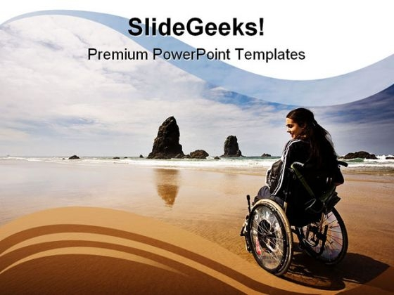 Adventure People Beach PowerPoint Background And Template 1210