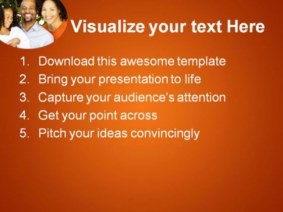 african american family powerpoint templates and powerpoint, Modern powerpoint