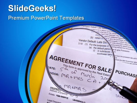 Agreement For Sale Purchase Business PowerPoint Themes And PowerPoint Slides 0811