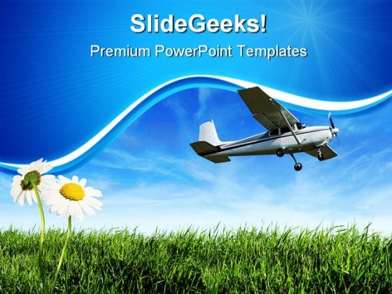 Airplane Travel PowerPoint Themes And PowerPoint Slides 0411