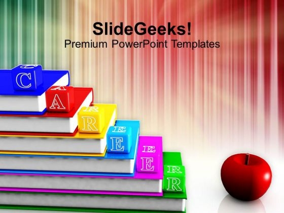 Alphabet Blocks With Books PowerPoint Templates Ppt Backgrounds For Slides 1212