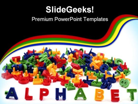 Alphabet Education PowerPoint Backgrounds And Templates 1210