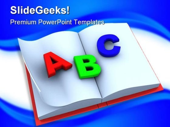 Alphabets Education PowerPoint Template 1110